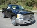 2013 Black Chevrolet Silverado 1500 Work Truck Regular Cab 4x4  photo #2