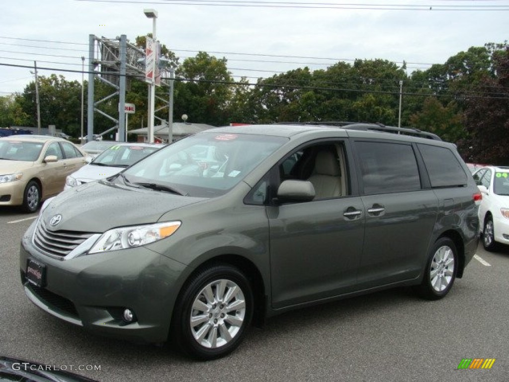 2011 cypress green pearl toyota sienna xle awd 71914800 photo 3 car color. Black Bedroom Furniture Sets. Home Design Ideas