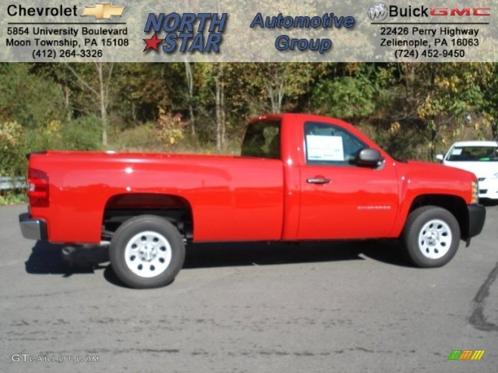 2013 Silverado 1500 Work Truck Regular Cab - Victory Red / Dark Titanium photo #1