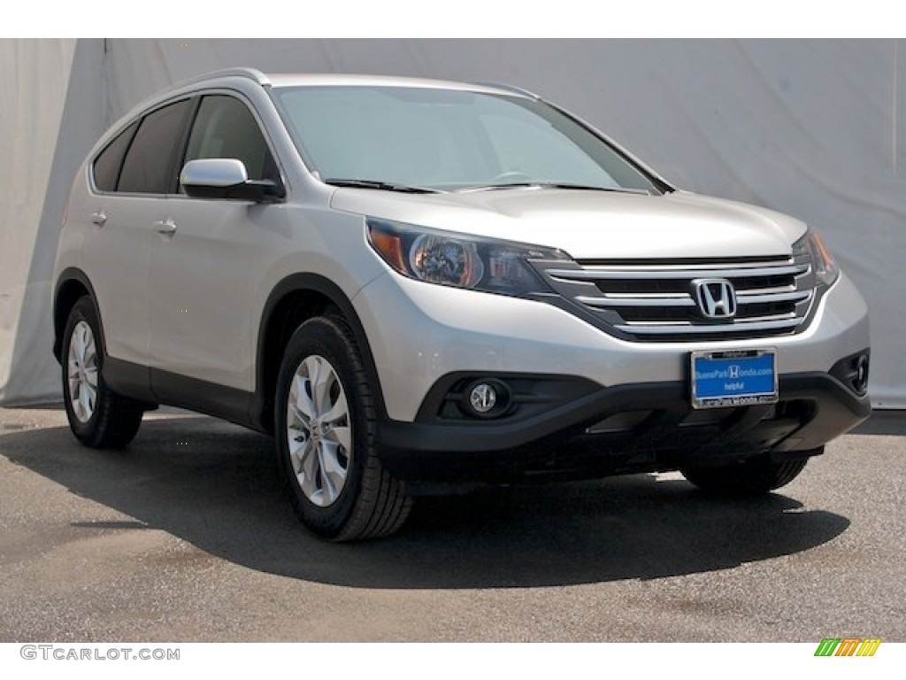 2013 CR-V EX - Alabaster Silver Metallic / Black photo #1