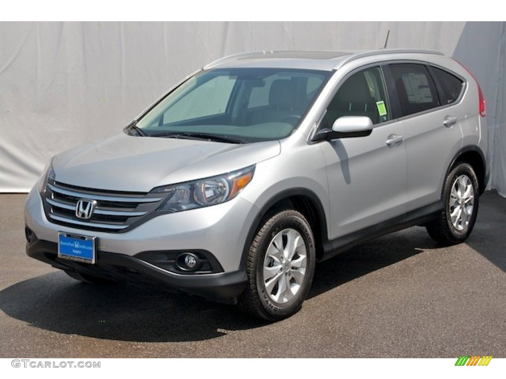 2013 CR-V EX - Alabaster Silver Metallic / Black photo #3