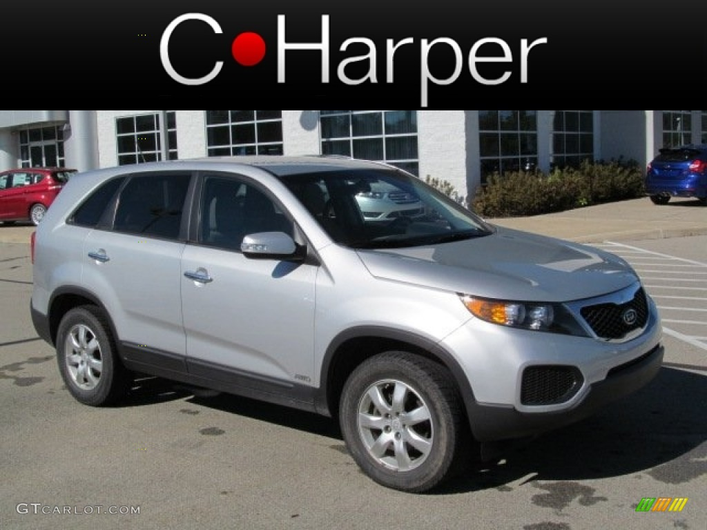 2011 Sorento LX AWD - Bright Silver / Gray photo #1