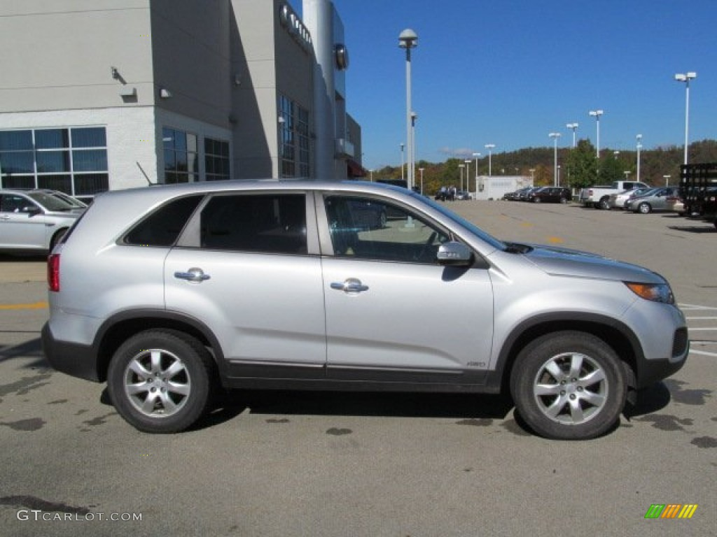 2011 Sorento LX AWD - Bright Silver / Gray photo #2