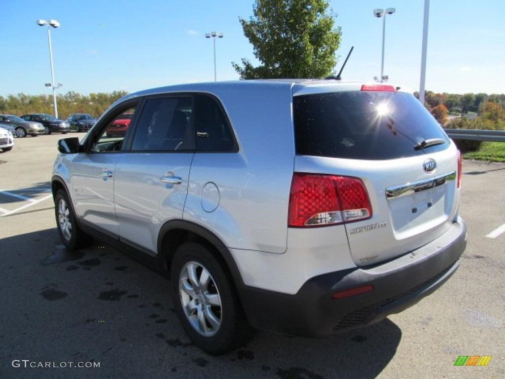 2011 Sorento LX AWD - Bright Silver / Gray photo #7