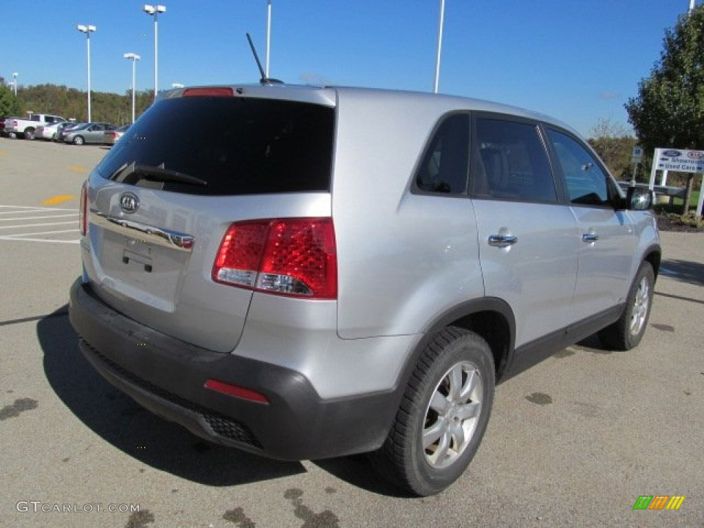 2011 Sorento LX AWD - Bright Silver / Gray photo #9