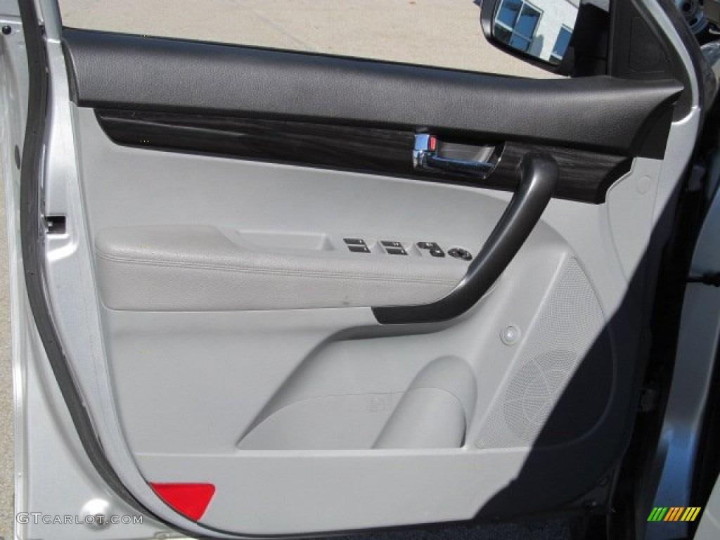 2011 Sorento LX AWD - Bright Silver / Gray photo #11