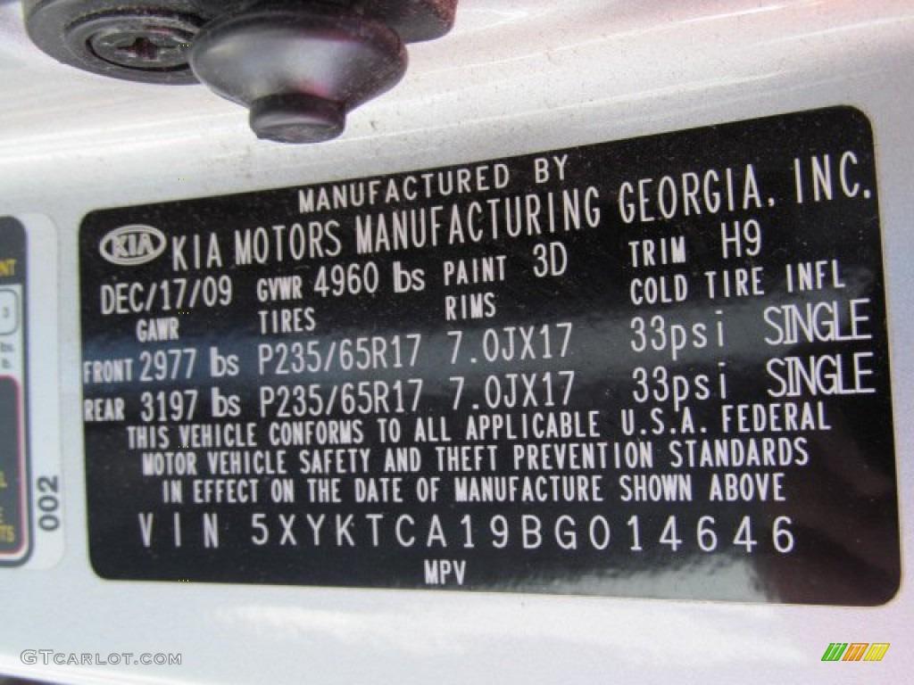 2011 Sorento LX AWD - Bright Silver / Gray photo #23