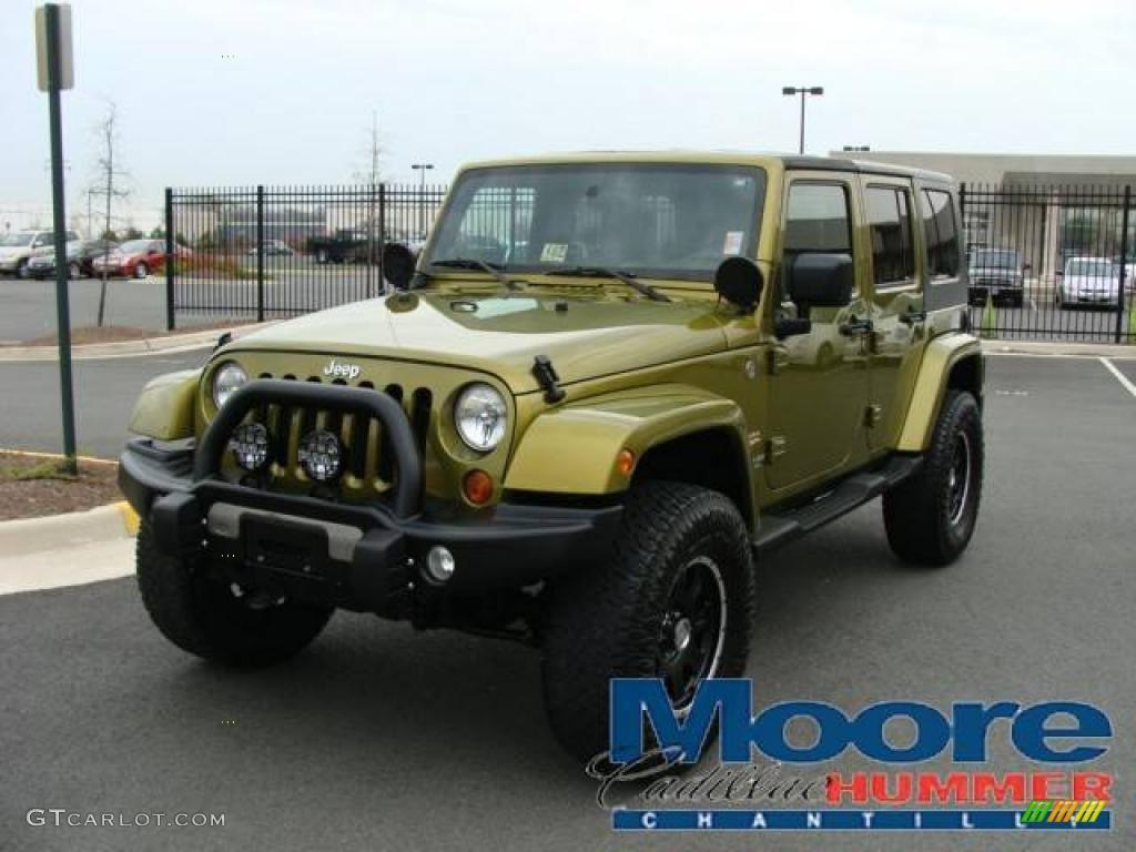 Rescue green metallic jeep wrangler unlimited jeep wrangler unlimited sahara 4x4