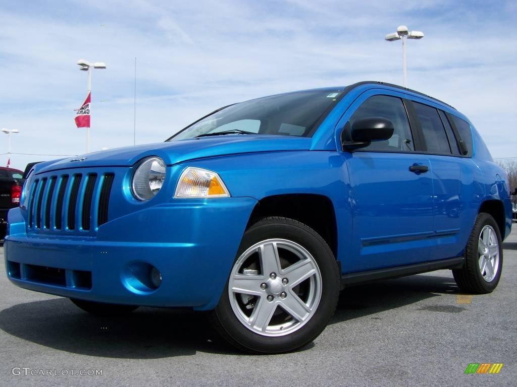 2008 surf blue pearl jeep compass sport #7149261 | gtcarlot