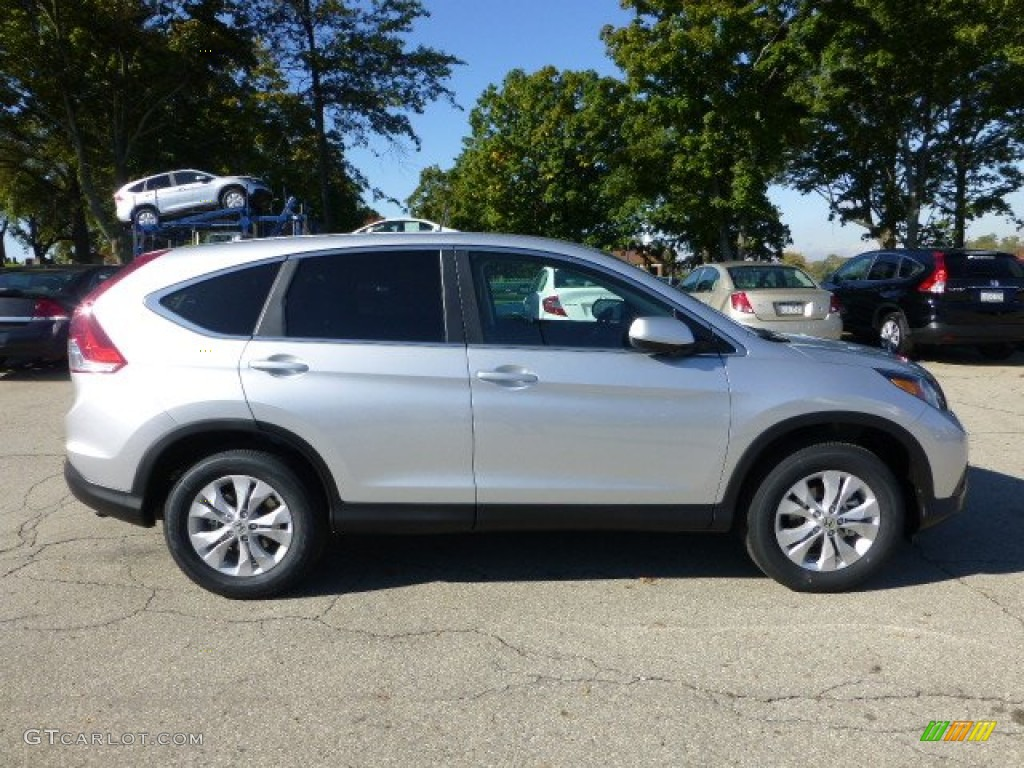 Alabaster Silver Metallic 2013 Honda Cr V Ex Awd Exterior Photo 71970076
