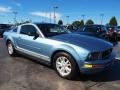 2007 Windveil Blue Metallic Ford Mustang V6 Premium Coupe  photo #2