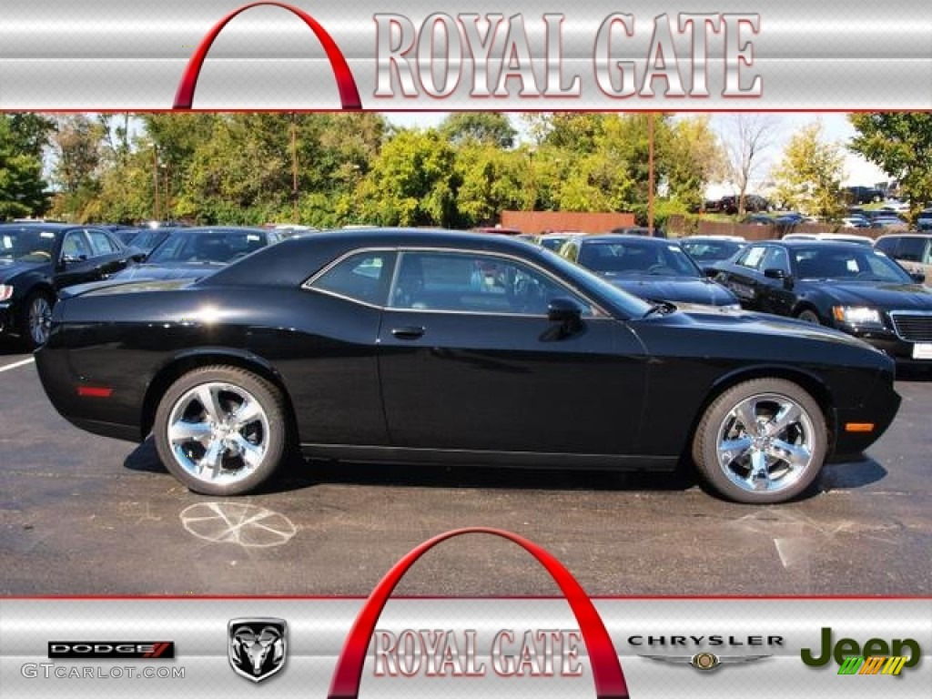 2013 challenger sxt plus pitch black dark slate gray photo 1