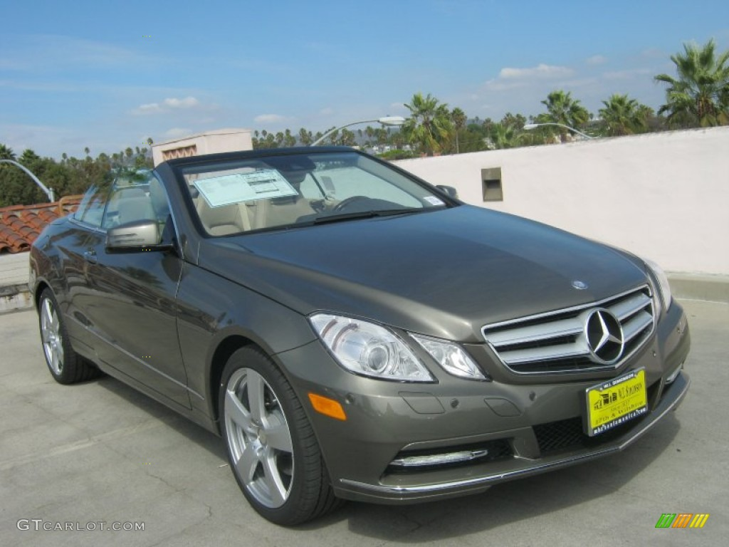 2013 Olivine Grey Metallic Mercedes Benz E 350 Cabriolet 71979837 Gtcarlot Com Car Color