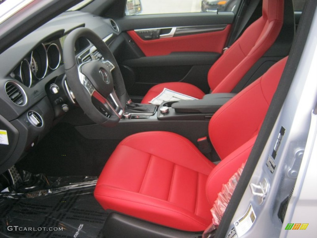 amg classic red interior 2013 mercedes benz c 63 amg photo