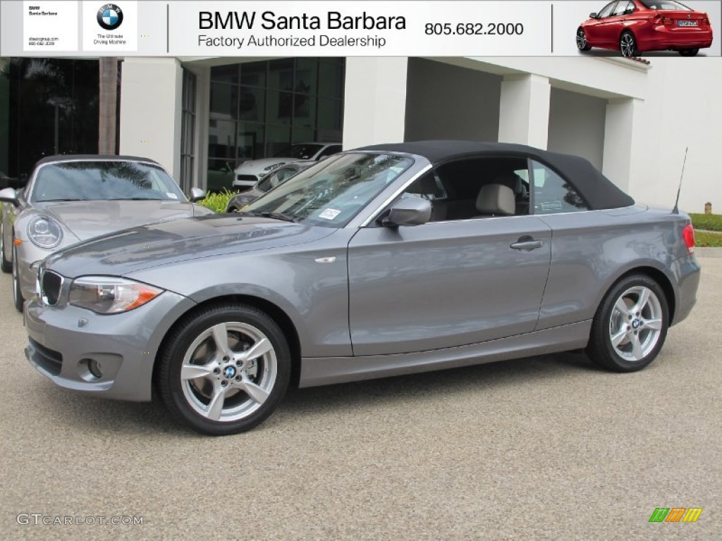 2013 space gray metallic bmw 1 series 128i convertible #71979755