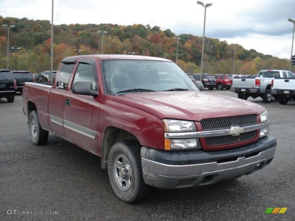 2004 sport red metallic chevrolet silverado 1500 extended. Black Bedroom Furniture Sets. Home Design Ideas