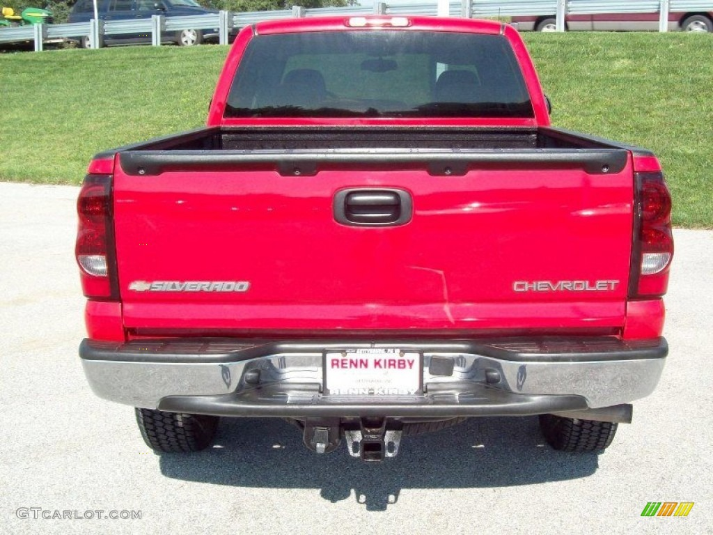 2005 Silverado 1500 Z71 Extended Cab 4x4 - Victory Red / Dark Charcoal photo #13