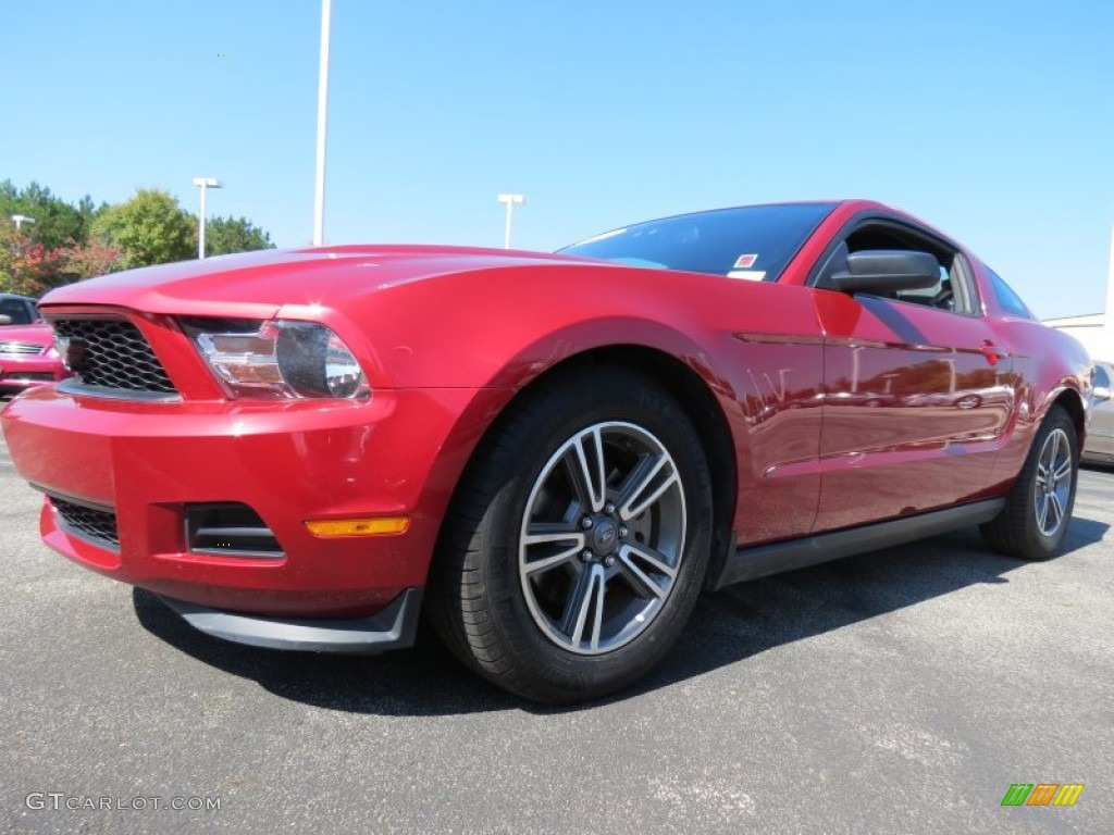 2011 Mustang V6 Premium Coupe - Red Candy Metallic / Charcoal Black photo #1