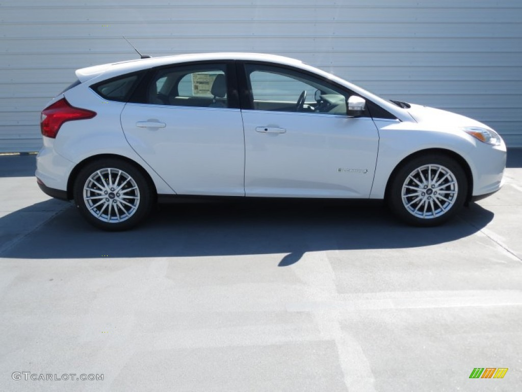white platinum 2013 ford focus electric hatchback exterior photo 72061957. Black Bedroom Furniture Sets. Home Design Ideas