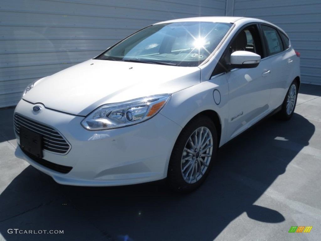 white platinum 2013 ford focus electric hatchback exterior. Black Bedroom Furniture Sets. Home Design Ideas