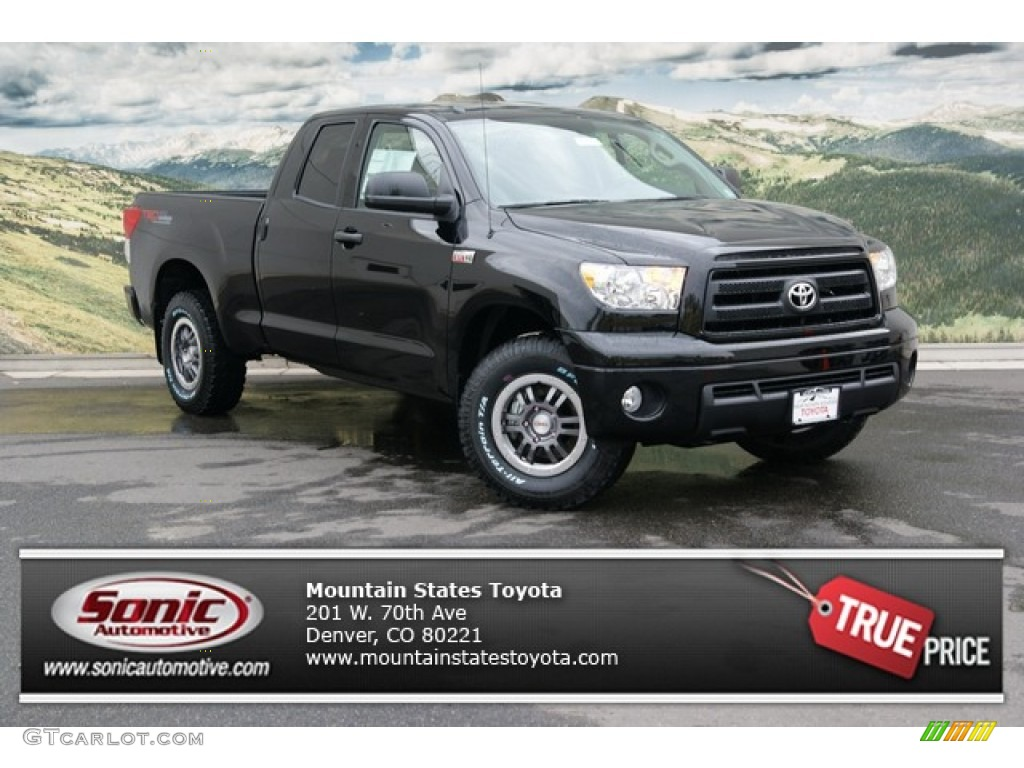2013 Tundra TRD Rock Warrior Double Cab 4x4 - Black / Black photo #1