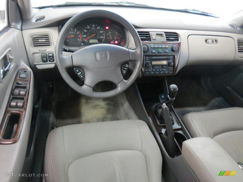 Delightful Quartz Gray Interior 2002 Honda Accord EX Sedan Photo #72074842