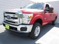 2012 Vermillion Red Ford F250 Super Duty XLT Crew Cab 4x4  photo #6