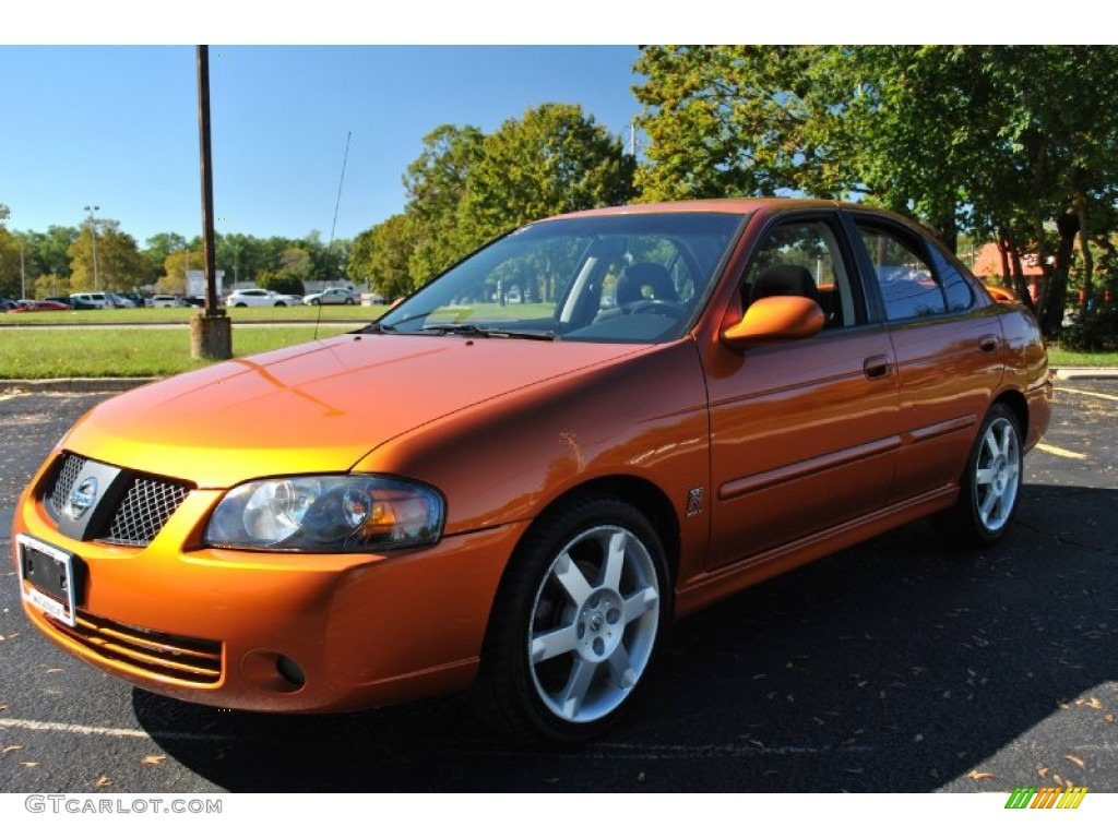 2005 volcanic orange nissan sentra se r spec v 72040460 car color galleries. Black Bedroom Furniture Sets. Home Design Ideas