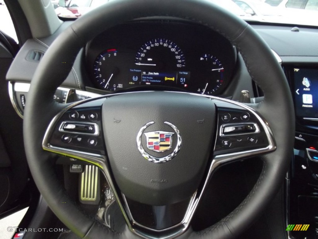2013 cadillac ats 3 6l premium jet black jet black accents steering wheel photo 72092302. Black Bedroom Furniture Sets. Home Design Ideas
