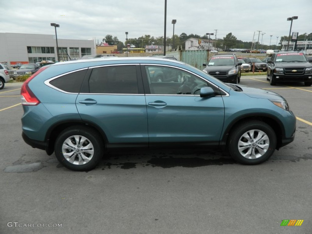 2013 CR-V EX-L AWD - Mountain Air Metallic / Beige photo #7