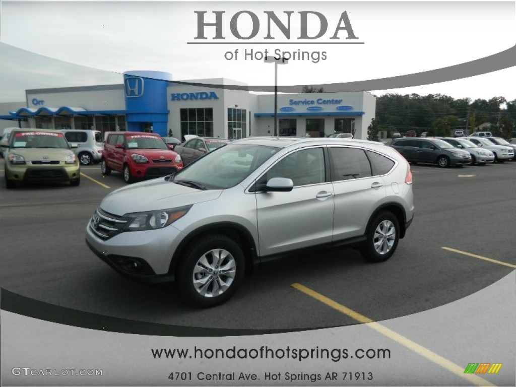 2013 CR-V EX-L - Alabaster Silver Metallic / Gray photo #1