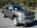 2013 Mocha Steel Metallic Chevrolet Silverado 1500 LT Crew Cab 4x4  photo #2