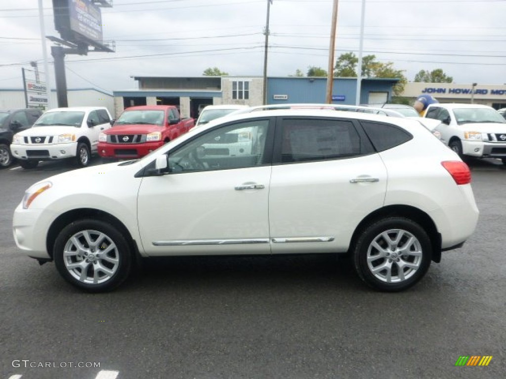 2013 Pearl White Nissan Rogue Sl 72040575 Photo 6