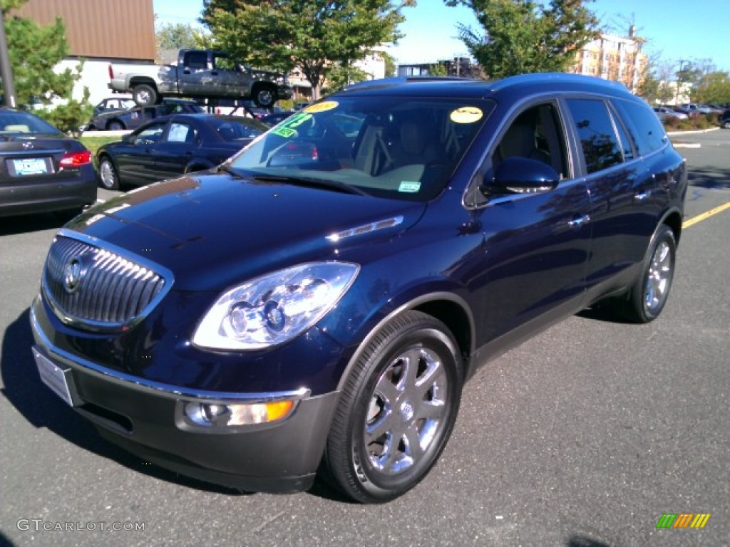 2009 Enclave CXL AWD - Ming Blue Metallic / Cocoa/Cashmere photo #1