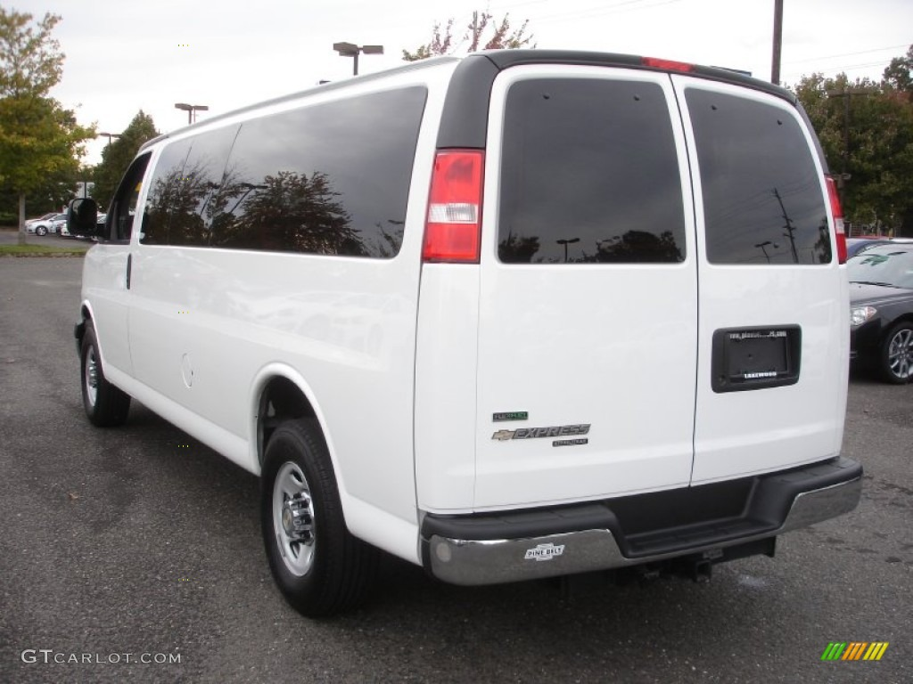 Summit white 2012 chevrolet express ls 3500 passenger van exterior photo 72119826
