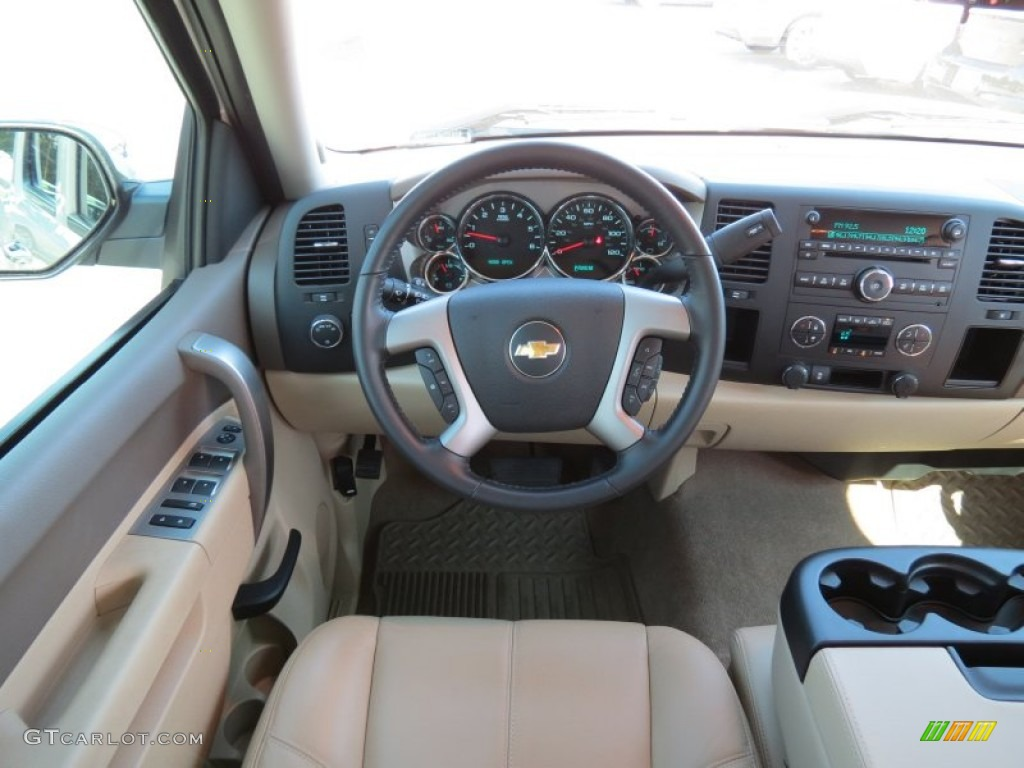 2012 Silverado 1500 LT Crew Cab - White Diamond Tricoat / Light Cashmere/Dark Cashmere photo #19