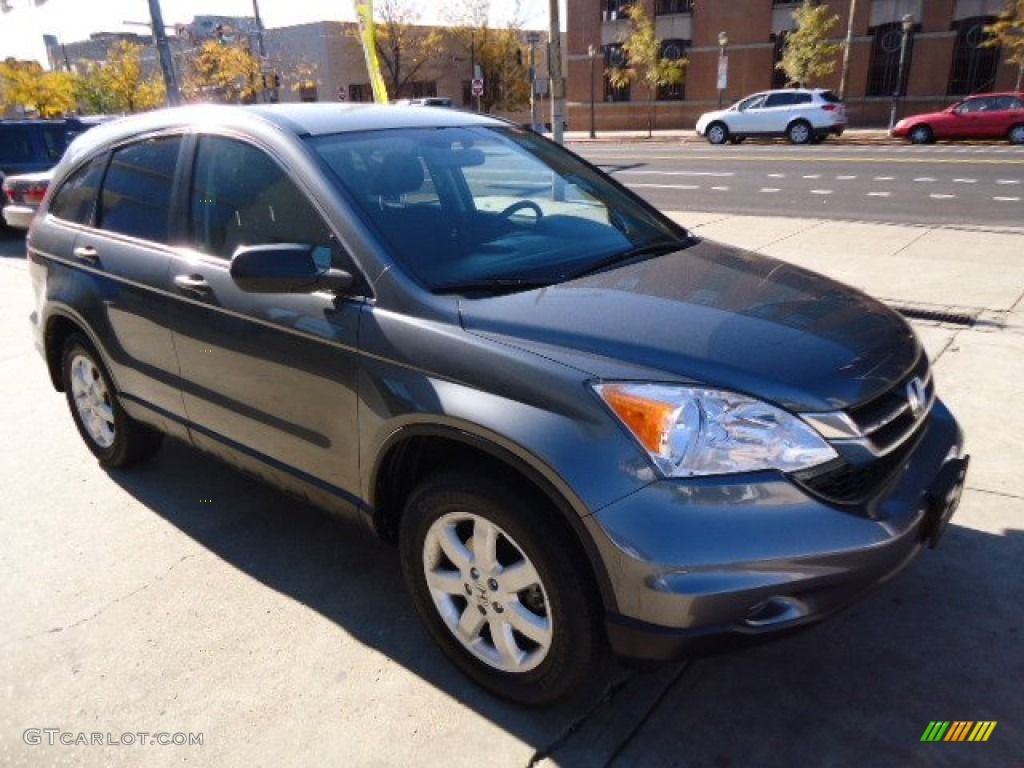 2011 CR-V SE 4WD - Polished Metal Metallic / Black photo #3