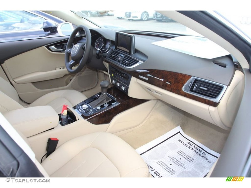 velvet beige interior 2013 audi a7 3 0t quattro premium plus photo 72147780. Black Bedroom Furniture Sets. Home Design Ideas