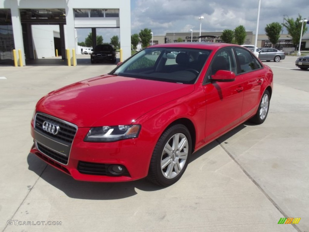 brilliant red 2011 audi a4 2 0t quattro sedan exterior. Black Bedroom Furniture Sets. Home Design Ideas
