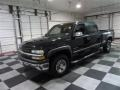 2002 Onyx Black Chevrolet Silverado 1500 LS Crew Cab  photo #3