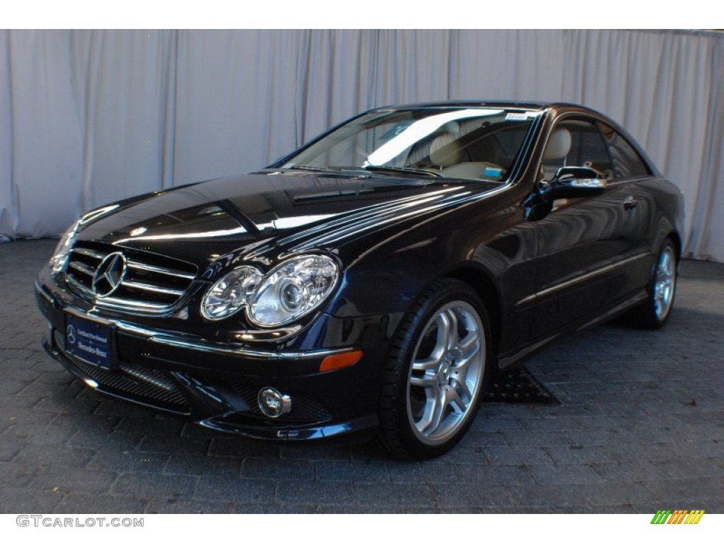 2008 Clk 550 Coupe Majestic Black Metallic Stone Photo 1