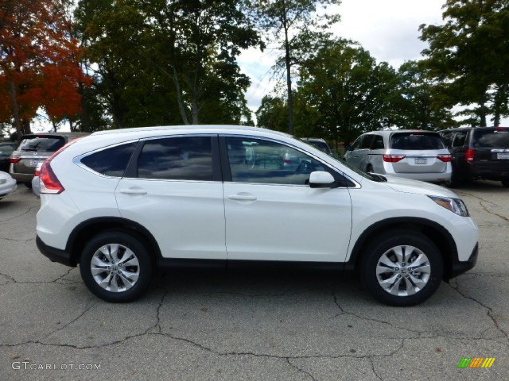 White Diamond Pearl 2013 Honda Cr V Ex L Awd Exterior Photo 72180517