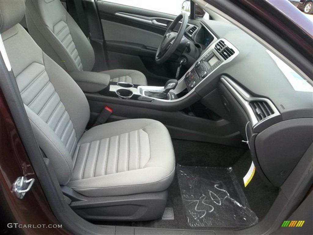 Earth Gray Interior 2013 Ford Fusion S Photo 72197025