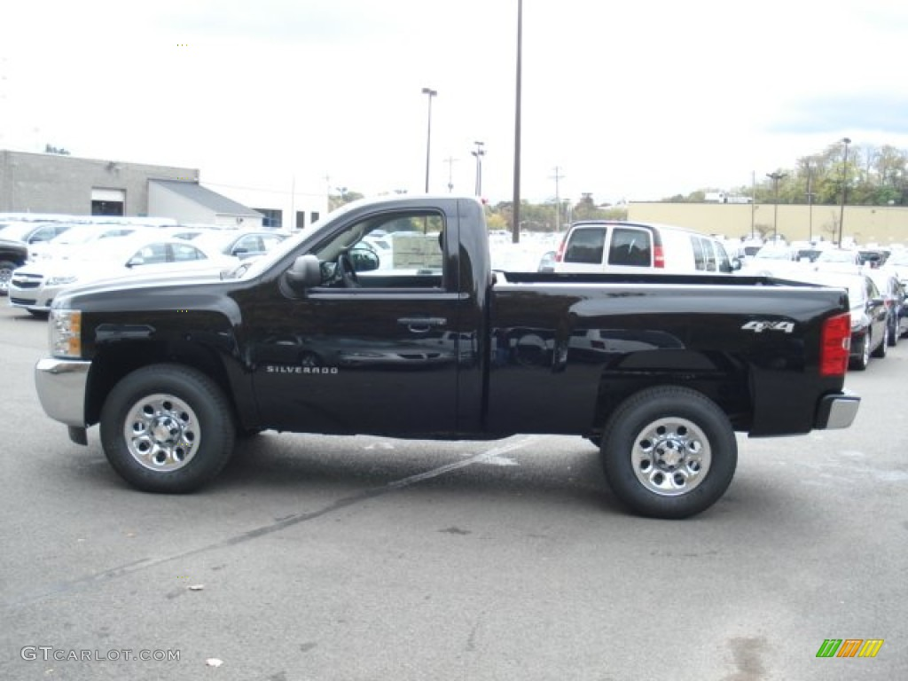 2013 Silverado 1500 LS Regular Cab 4x4 - Black / Dark Titanium photo #5