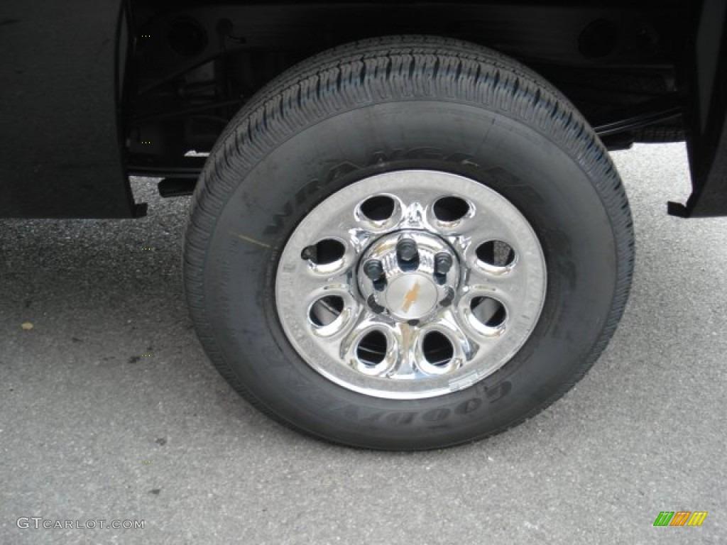 2013 Silverado 1500 LS Regular Cab 4x4 - Black / Dark Titanium photo #9