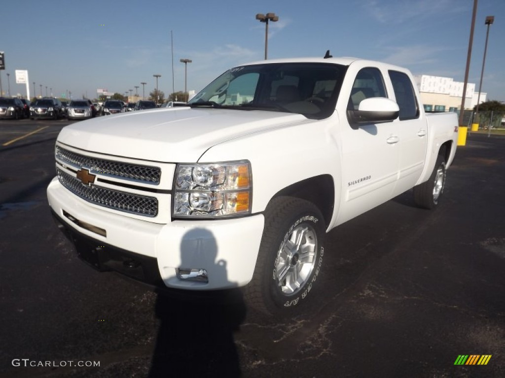 2012 Silverado 1500 LTZ Crew Cab 4x4 - Summit White / Light Cashmere/Dark Cashmere photo #1