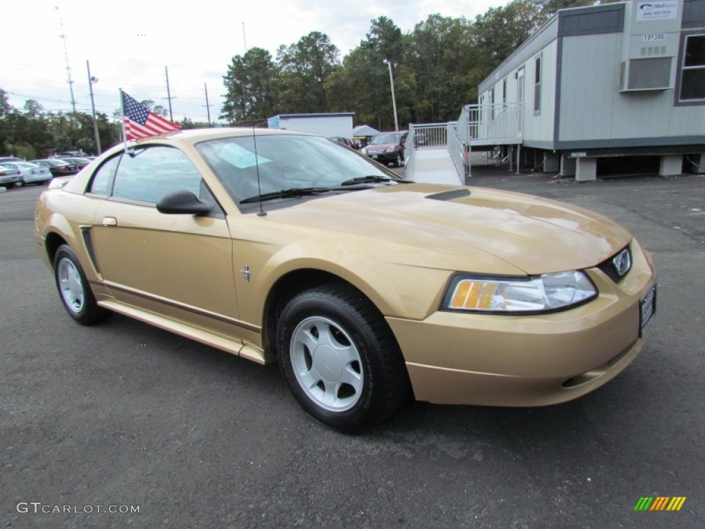 Sunburst Gold Metallic 2000 Ford Mustang V6 Coupe Exterior