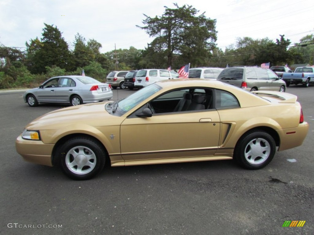sunburst gold metallic 2000 ford mustang v6 coupe exterior photo 72213830. Black Bedroom Furniture Sets. Home Design Ideas