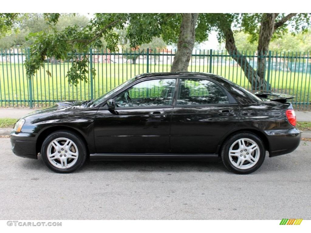 Java Black Pearl 2004 Subaru Impreza Wrx Sedan Exterior