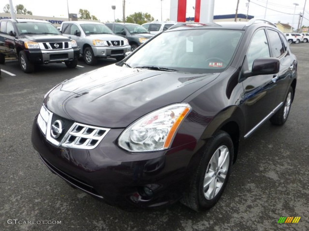 Black Amethyst 2013 Nissan Rogue Sv Awd Exterior Photo 72240599